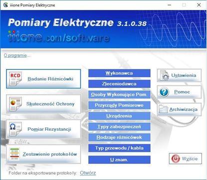Program iiione Pomiary Elektryczne 3.1